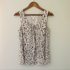 3for$20_LOFT Animal Print Tank Blouse Size MP